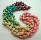 """STUNNING VINTAGE ESTATE COLORFUL WOODEN BEAD 24"""" NECKLACE!!! 4582B"""