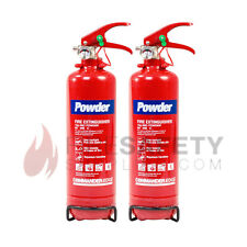 NEW 2 X 2 KG DRY POWDER FIRE EXTINGUISHER - HOME/OFFICE/CAR