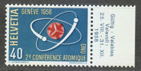 Switzerland 1958 MNH Mi 662 Sc 369 Nuclear Fission.Atomic Conference ** Science