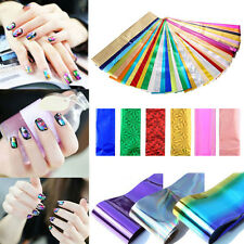 Wholesale 50pcs Nail Art Wrap Foils Glitter Stickers Decals Manicure Tool DIY si