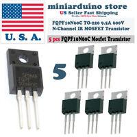 5pcs FQPF10N60C 10N60C 600V N-Channel MOSFET TO-220F IR Power Transistor