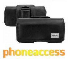 Housse Etui Luxe Universel CUIR Noir Horizontal D ~ Samsung E950 / E1190 / E1310