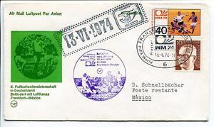 FFC 1974 Lufthansa Special Flight Calcio Football Germania - Mexico