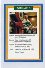 (Jj143-100) RARE Trade Card Premier of Lester Piggott ,Jockey 1997 MINT