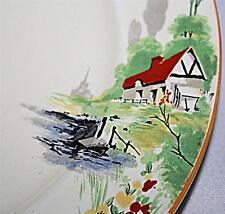 2 superbes vintage art deco PALISSY années 1930 petite salade plaque 21,5 cm de large