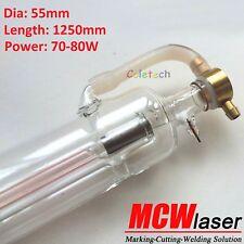 MCWLaser 60W Peak 80W CO2 Laser Tube Engraving Engraver Cutting Marking 1250mm