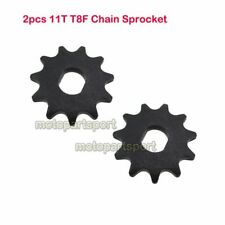 2x T8F Chain 11T Sprocket Motor Engine Pinion Gear For MY1020 Electric Scooter