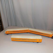 3 Lionel Post war Hiawatha train cars lighted couplings The Milwaukee Road vgc