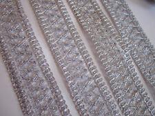 2 METER Borte Spitze Nichtelastisch Silber 4cm elegante top C180*****