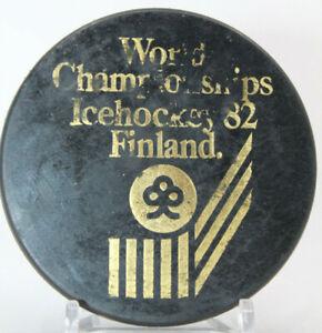 World Championships Ice Hockey Finland 1982 Official Hockey Puck (OOO)
