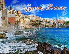 Greece - Crete - SYROS - Travel Souvenir Flexible Fridge Magnet