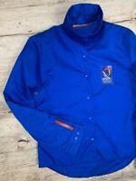 Auth Women's PRADA Blue Jacket Windbreaker Size 34 M/L