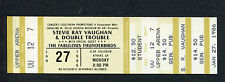 1986 Stevie Ray Vaughan Fabulous Thunderbird unused concert ticket Athens Ga