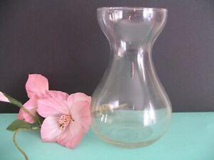 altes  Hyazinthenglas Hyazinthenvase Glas Vase klar 15cm Handarbeit