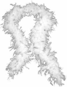 White Feather Boa Fancy Dress Costume Party Dance Wedding Xmas Night Strip 180cm