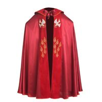 Catholic Church Cape Vestment  Cope Priest Liturgical  IHS Embroidery Holy Red