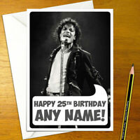 SIZE 77mm PERSONALISED MICHAEL JACKSON FUN BIRTHDAY BADGE ANY AGE BRAND NEW