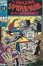 AMAZING SPIDERMAN BATTLES IGNORANCE 1 F- RARE SYLVAN LEARNING GIVEAWAY PROMO '92