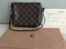 Louis Vuitton Damier Ebene Canvas Pochette Accessories Mini Handbag RECEIPT