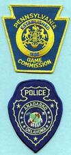 X164 Lot of 2 Police Patches, ANADARKO OKLAHOMA Police, & PENNSYLVANIA