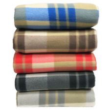 Tartan Throw Checked Large Polar Fleece Warm Soft Blanket Sofa Bed Travel Car