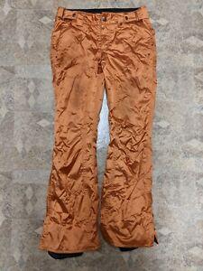 Burton Dry Ride Snowboard Pants Women's Small Orange Lightly Used