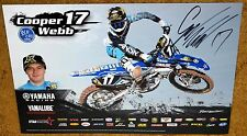 COOPER WEBB  #17 Signed 2015 YAMAHA Racing POSTER