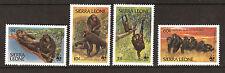 SIERRA LEONE série 4 T. neufs #586-589 Chimpanzés en danger,fondation WWF  E 206