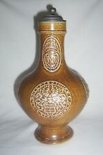 Goebel lidded jug    Bellarmine  saltglazed stoneware Stein  Raeren re-enactment