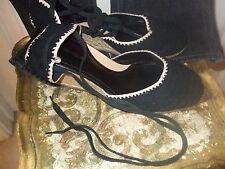 Via Spiga Size 9 Black Crocheted Top/Twine Espradilles Wedge Woman's Sandal