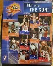 TEAM SIGNED 2003 CONNECTICUT SUN WNBA POSTER REBECCA LOBO SALES 11 AUTOGRAPHS