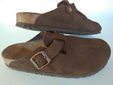 Birkenstock Brown Leather Slip On Mules Shoes Women's Size 38, US 7