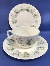 MINTON CHINA TRIO SPRING VALLEY PATTERN TRIO CUP SAUCER PLATE DINNER SERVICE TEA