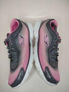 Skechers Go Run Sprint Women's Athletic Running Shoes Pink Gray Sz 8.5