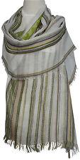 Streifen Schal Baumwolle gestreift scarf écharpe offwhite beige cotton stripe