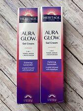 New listing (2) Heritage Store Aura Glow Gel Cream 3 in 1 Toner Serum Calming Lavender 1.7