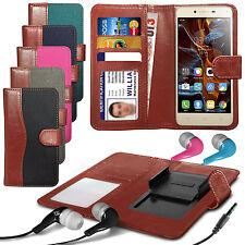 For Acer Liquid Z6 - Fabric Mix Clip Wallet Case & Earphone