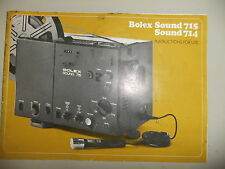 Instructions cine projector BOLEX Sound 715 714 8mm  - CD/Email