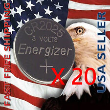 **FRESHLY NEW** 20x Energizer CR2025 Lithium Battery 3V Coin Cell Exp 2024