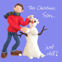 Son Just Chill Christmas Greeting Card One Lump or Two Holy Mackerel Cards