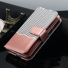 Samsung Galaxy Note 8 S8 Leather Wallet Case Magnetic Removable Flip Card Cover for iPhone 6s Plus Rose Gold