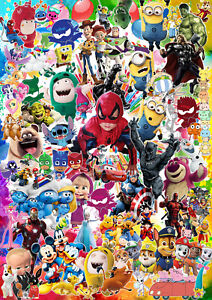 POSTER Personalised Birthday Party Kids Superheroes with picture