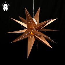 Led Estrellas de Adviento Gartenstern Plegable Ø 60 Exteriores 18 Zack Oro 96227