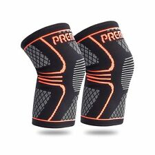 Knee Compression Sleeve Support - Best for Running, Basketball, Exercise- 1 PAIR