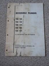 @Vintage Ransomes Reversible arados TSR 102 103 104 105 107 piezas libro @