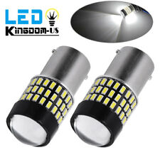 2X 1156 3014 High Power 78 SMD White Tail Brake Stop LED Lights Bulbs 6000K