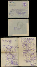 ITALY to INDIA WW2 1944 AIRLETTER in TAMIL to TINNEVELLY FPO LANCIANO