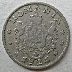 ROMANIA 1924(p) ONE LEU COIN (KM# 46)