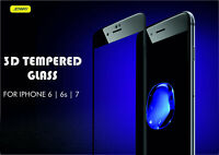Full Curved 3D HD Tempered Glass Screen Protector for Apple iPhone 7 White - UK