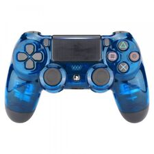 Crystal Clear Blue Top Housing Shell Replacement Mod For PS4 Slim Pro Controller